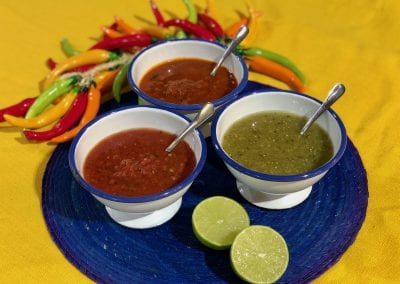 Tres salsas Doce Chiles
